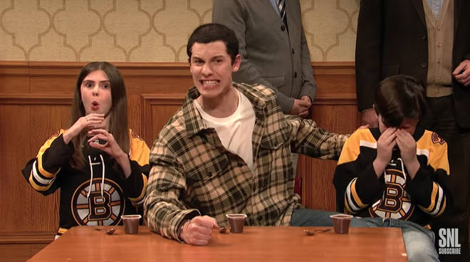 Shawn Mendes joined in an SNL skit with Adam Sandler and the cast