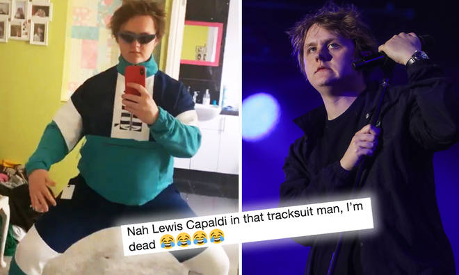 Lewis Capaldi shows off his new tracksuit on Instagram
