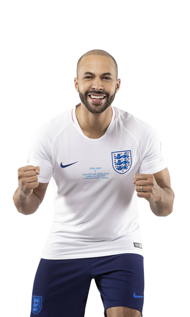 Marvin Humes will be on the England team managed by Sam Allardyce and Susanna Reid
