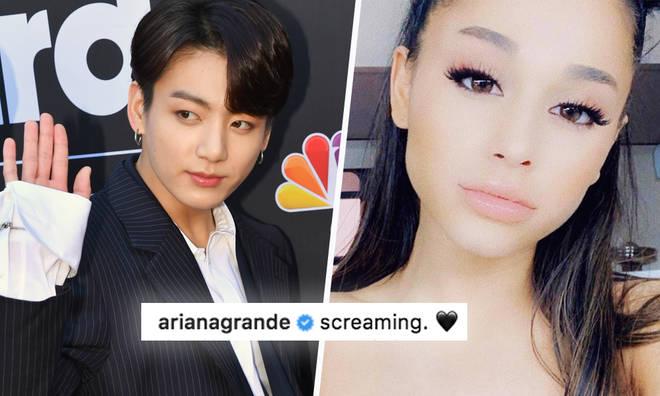 Ariana Grande and Jungkook met at her Sweeteener concert