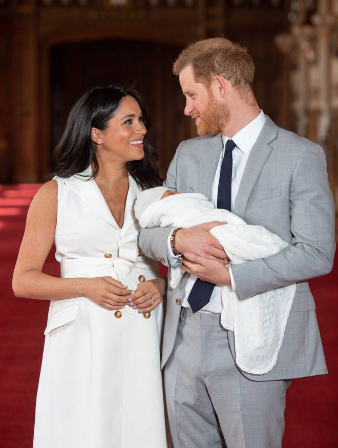 The Duke & Duchess Of Sussex introduced their son to the world today at Windsor Castle