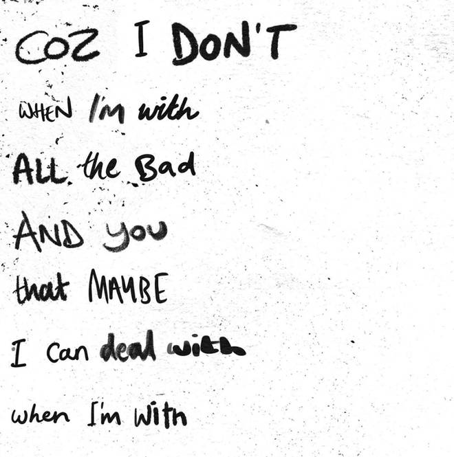 Ed Sheeran posted half of the lyrics from his song with Justin Bieber