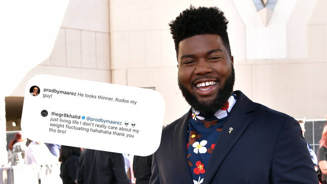 Khalid responded to a fan who commented on his weight loss