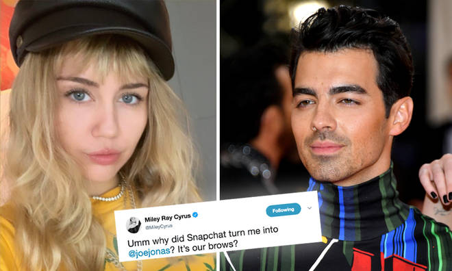 Miley Cyrus transformed into Joe Jonas thanks to Snapchat