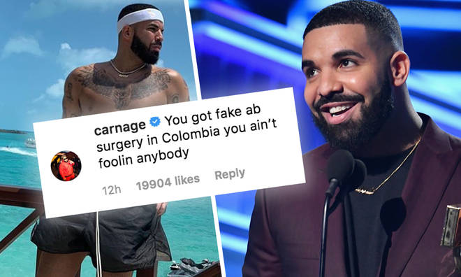 Drake's accused of getting fake abs by a close friend