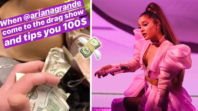 Ariana Grande tipped a drag queen $100 at a San Antonio club