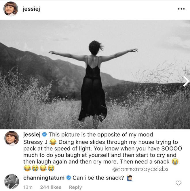 """Jessie J&squot;s boyfriend Channing Tatum volunteered to be her """"snack"""""""