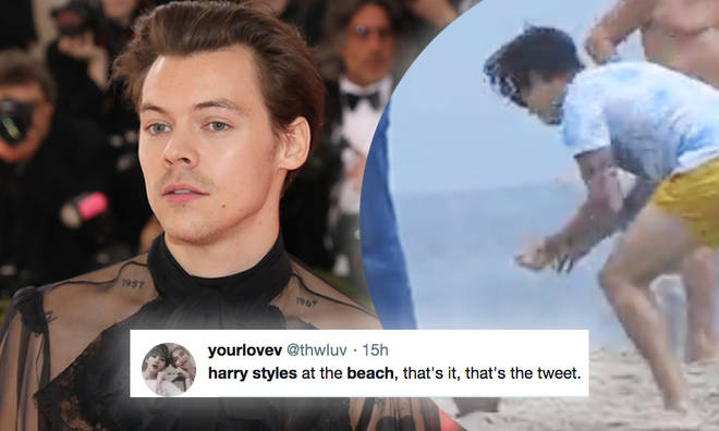 Harry Styles spent the day at Malibu beach
