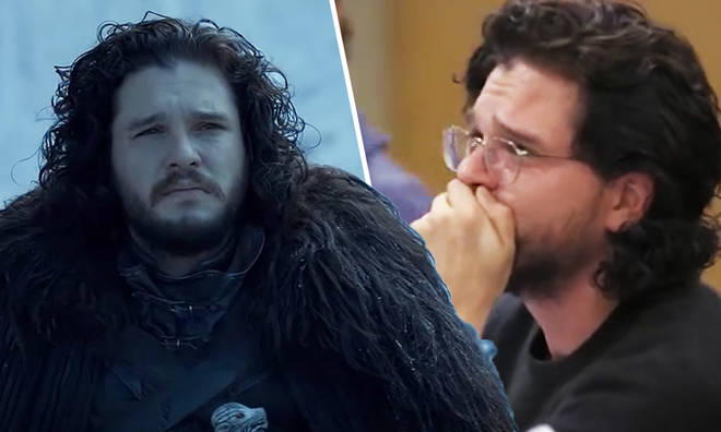 Kit Harington breaks down at the final table reading for Game Of Thrones