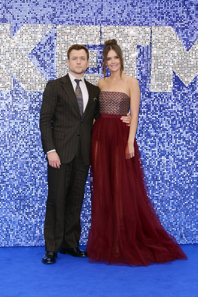 Taron attended the UK premiere for Rocketman with his girlfriend, Emily Thomas