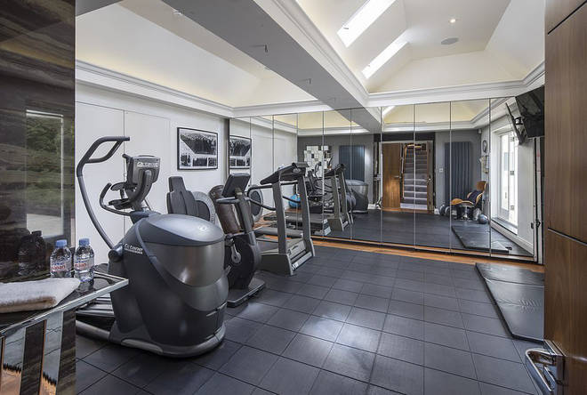 Rihanna's home even has its very own gym