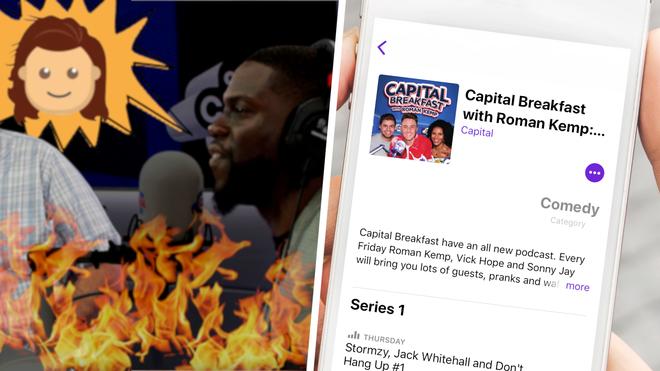 Kevin Hart, Eric Stonestreet and Taron Egerton all appear on Capital Breakfast's podcast