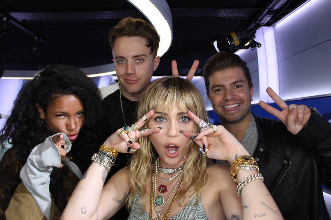Miley Cyrus caught up with Capital Breakfast with Roman Kemp