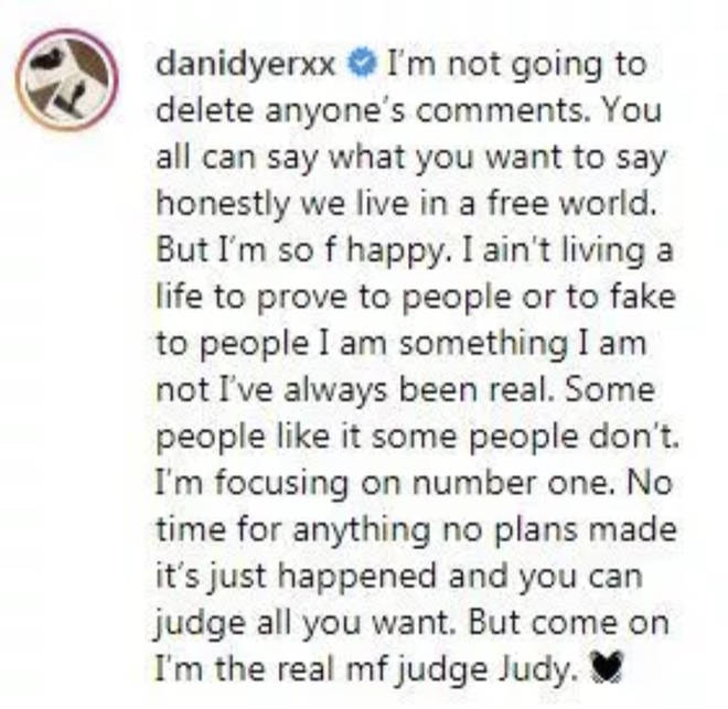 Dani Dyer clapped back at fans who criticised her for moving on with new beau Sammy Kimmence