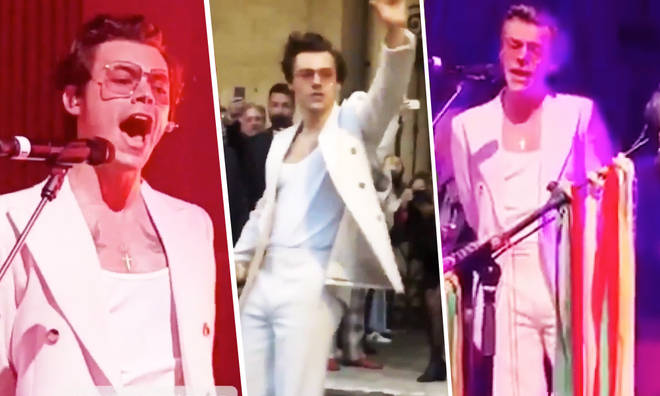 Harry Styles performs at Gucci's afterparty with Stevie Nicks