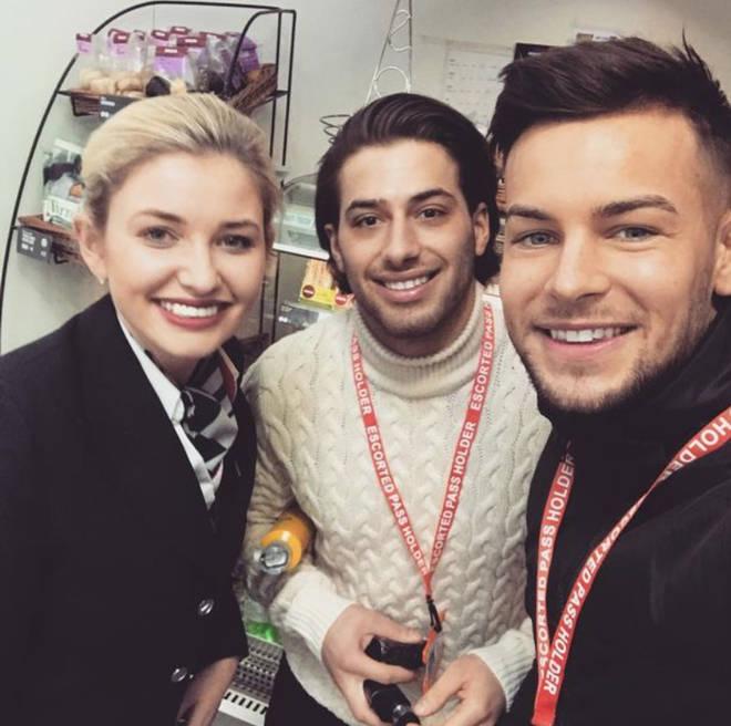 Amy Hart's job as an air hostess has seen her meet famous faces