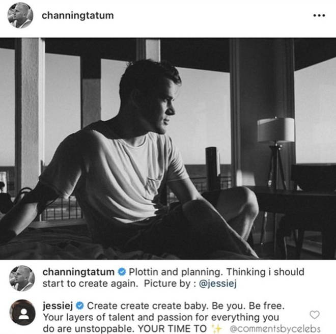 Jessie J encourages her 'baby' Channing Tatum to 'create'