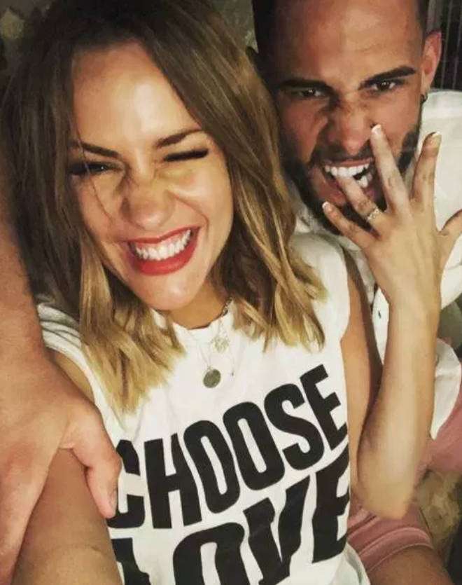 Caroline Flack was engaged to Andrew Brady last year