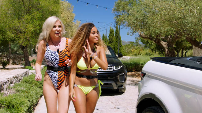 The girls entered the Love Island villa first