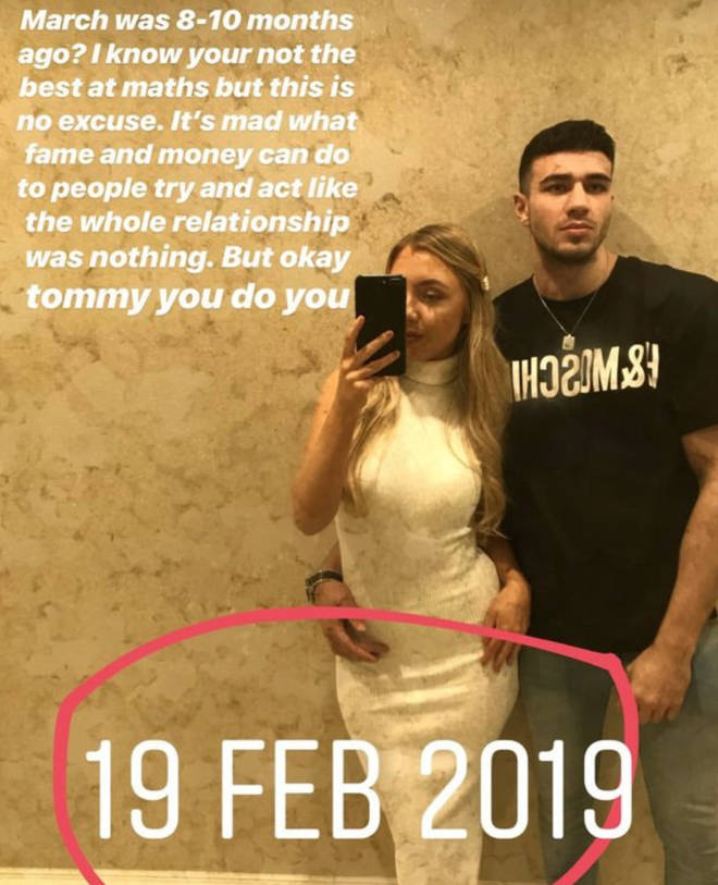 Millie proved her and Tommy were still together in February 2019
