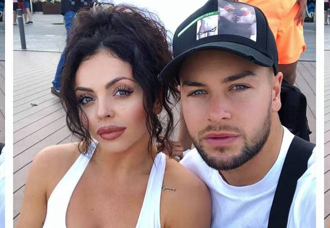 Jesy and Chris are head over heels.