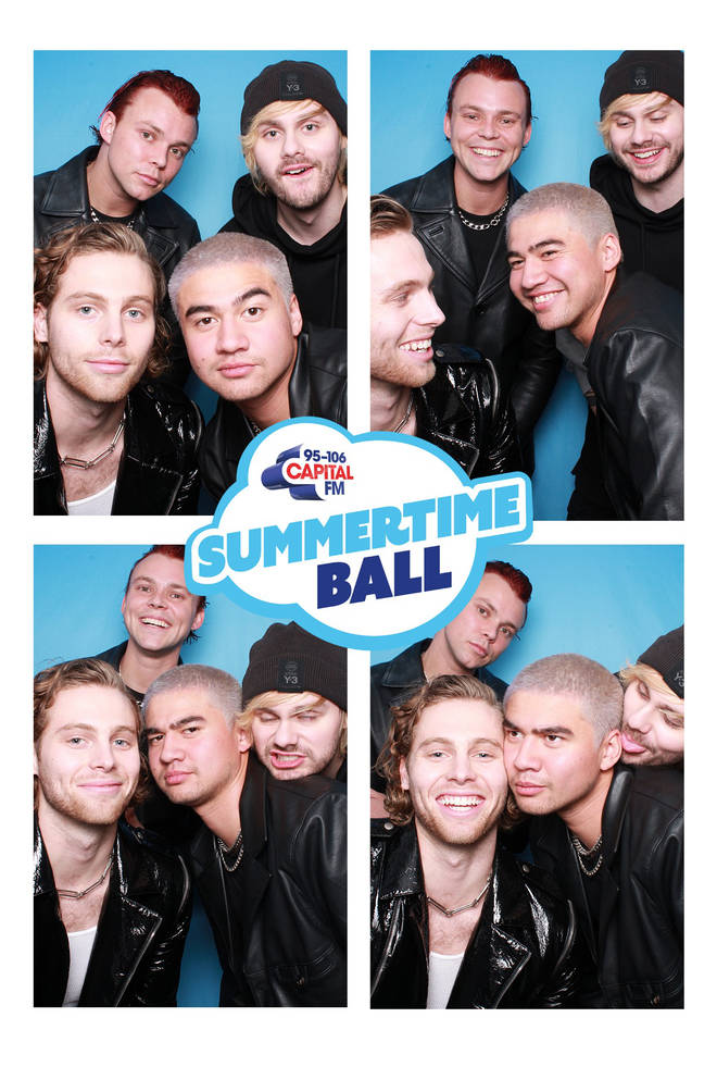 The 5SOS boys in our photobooth is dreamy