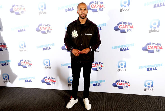 Marvin Humes arriving at Capital's Summertime Ball 2019
