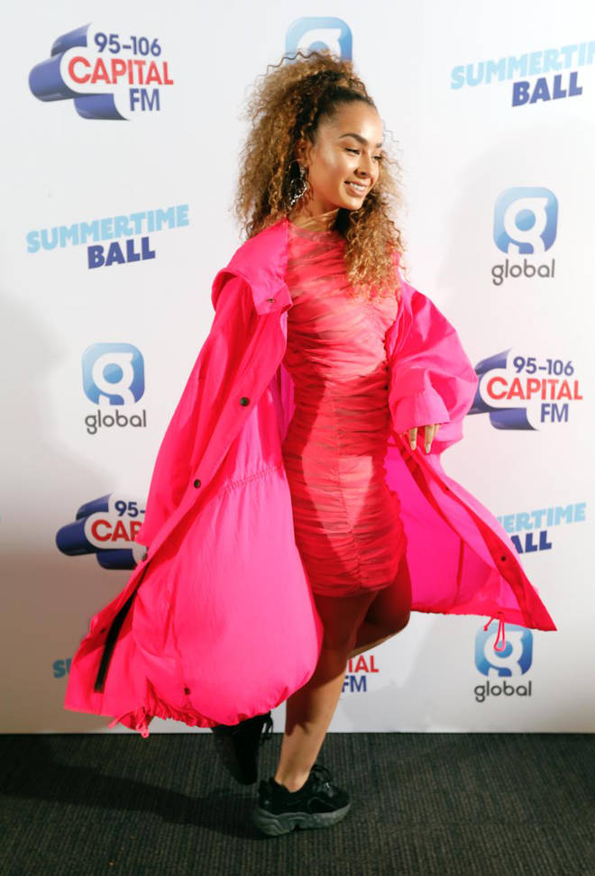 Ella Eyre on the red carpet at Capital's Summertime Ball 2019