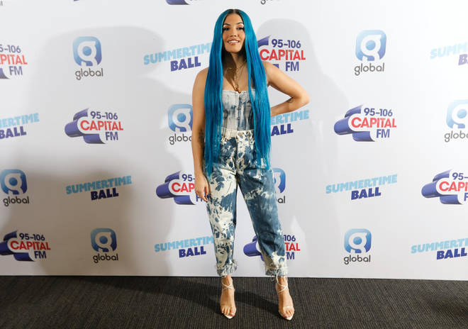 Mabel on the red carpet at Capital's Summertime Ball 2019