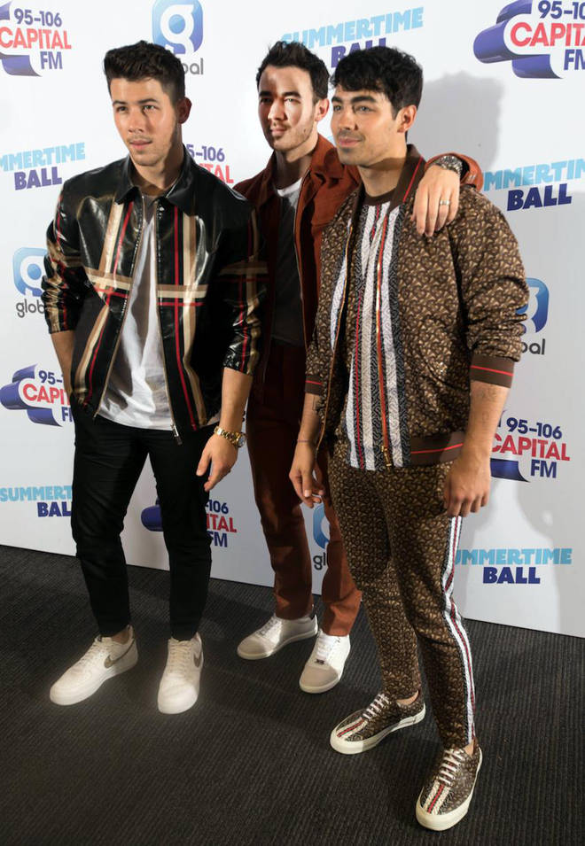 Jonas Brothers on the red carpet at Capital's Summertime Ball 2019