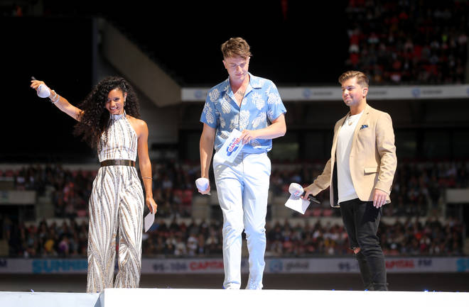 Vick Hope, Roman Kemp and Sonny Jay at the Summertime Ball 2019