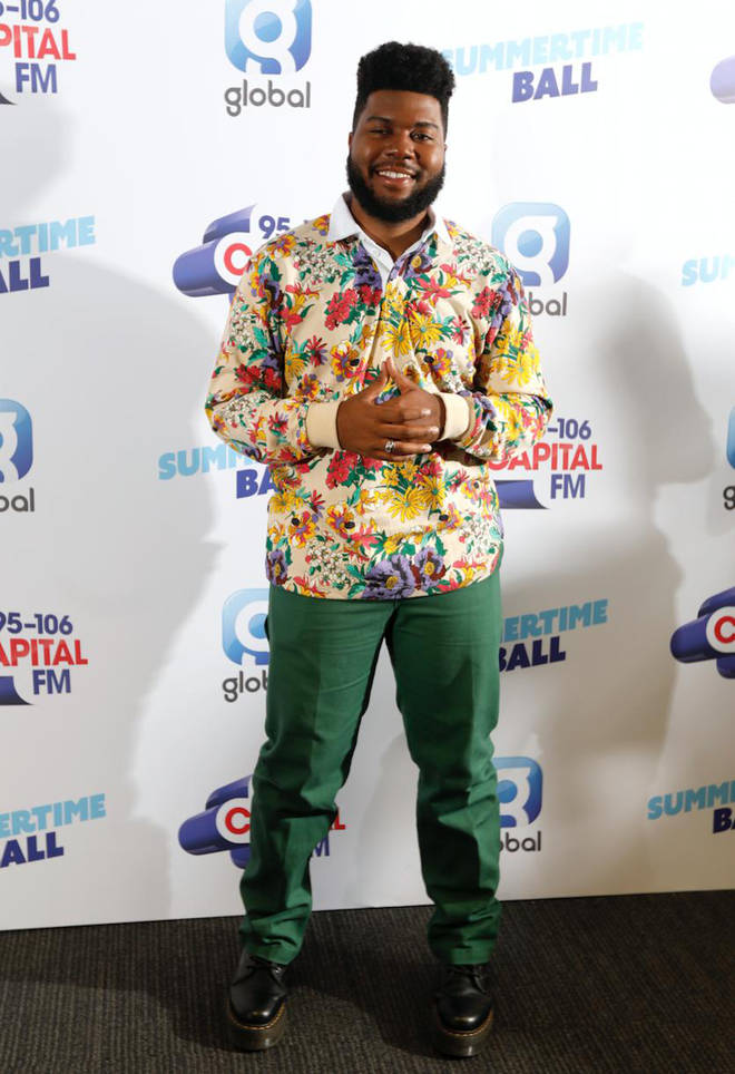 Khalid on the red carpet at Capital's Summertime Ball 2019
