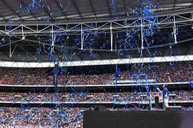 Jonas Blue performing on stage at Capital's Summertime Ball 2019