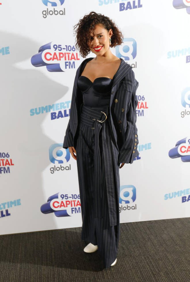 Raye on the red carpet at Capital's Summertime Ball 2019