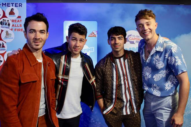 Jonas Brothers caught up with Roman Kemp backstage at #CapitalSTB