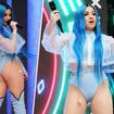 Mabel rocked blue hair for her Summertime Ball performance