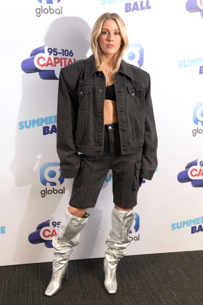 Ellie Goulding on the red carpet at Capital's Summertime Ball 2019