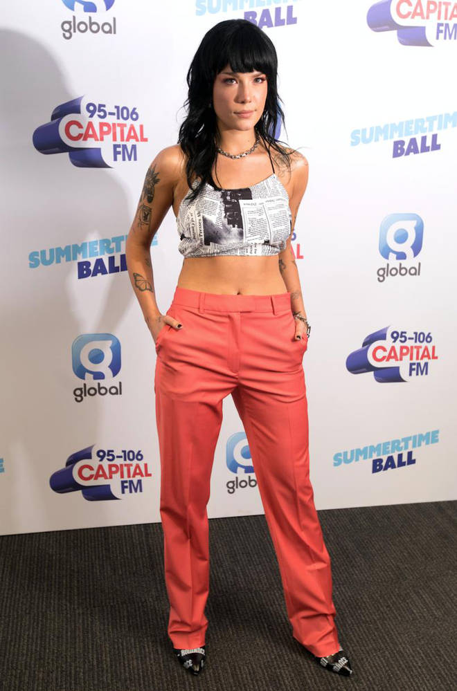 Halsey on the red carpet at Capital's Summertime Ball 2019