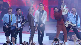 The Jonas Brothers and Busted performed 'Year 3000'