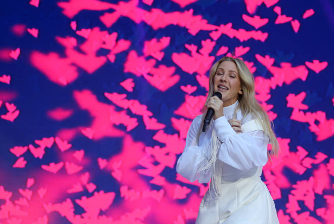 Ellie Goulding performing on stage at Capital's Summertime Ball 2019