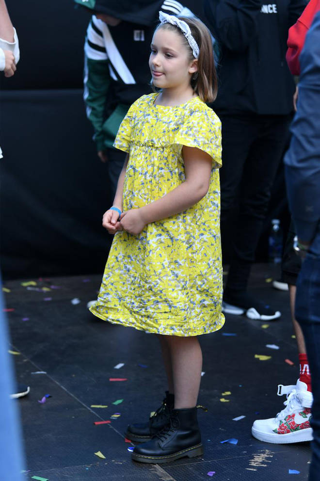 Harper Beckham in the crowd at Capital's Summertime Ball 2019