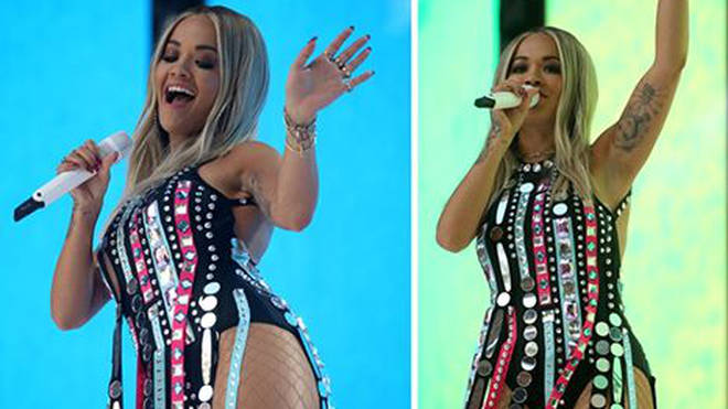 Rita Ora looked exceptional on stage at the Summertime Ball