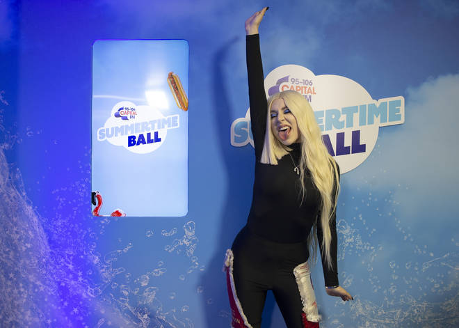 Ava Max ready to jump onstage at the Summertime Ball 2019