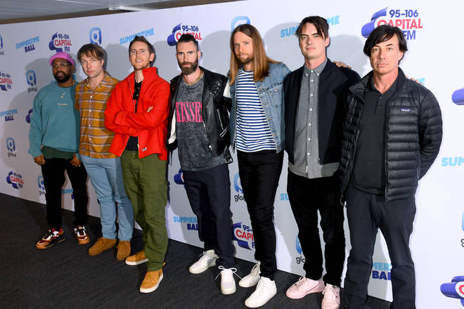 Maroon 5 on the red carpet of the Summertime Ball