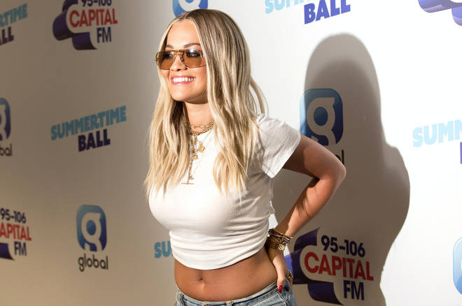 Rita Ora on the red carpet at Capital's Summertime Ball 2019