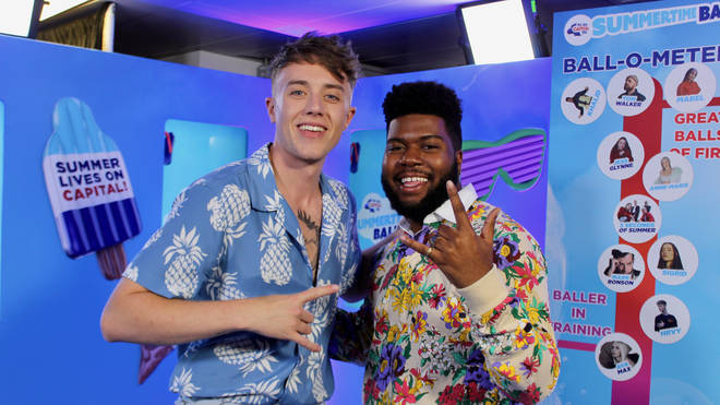 Khalid joined Roman Kemp backstage at Capital's Summertime Ball