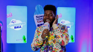 Khalid impersonated Ariana Grande backstage at the #CapitalSTB
