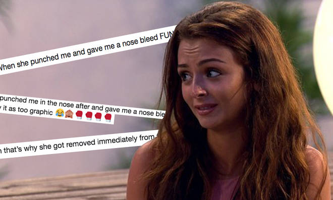 Kady McDermott claimed she was punched in the face during her time on Love Island