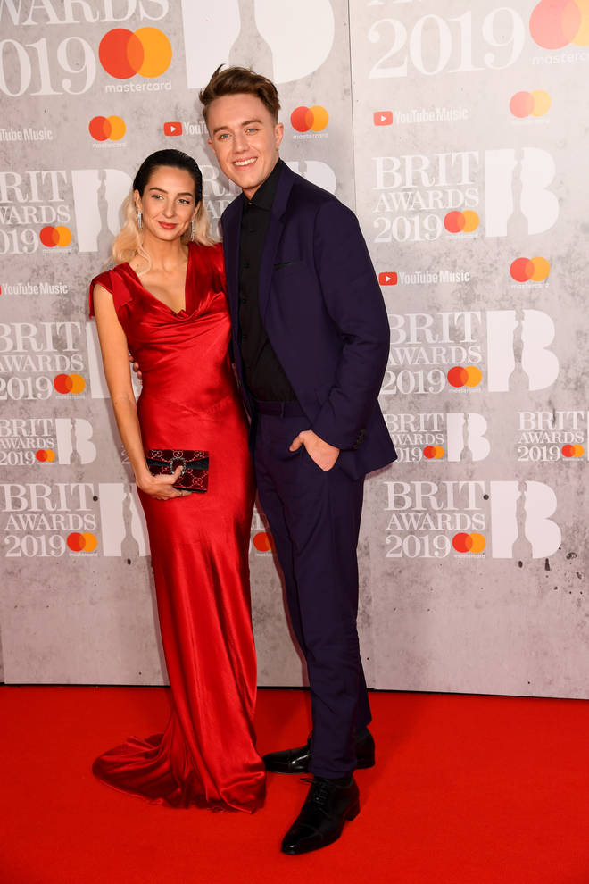 Roman Kemp and his girlfriend at the BRITs