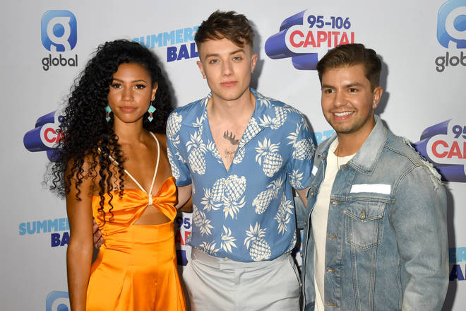 Roman Kemp with Vick Hope and Sonny Jay